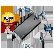 Внешний аккумулятор I-POWER-16 на 6.800mAh - black