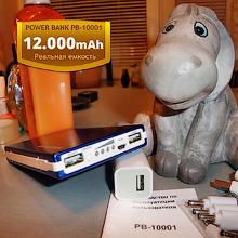 Внешний аккумулятор POWER BANK PB-10001 на 12.000 mAh (blue)